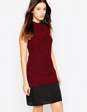 photo Hendy High Neck Jumper Dress by French Connection, color Red - Image 1