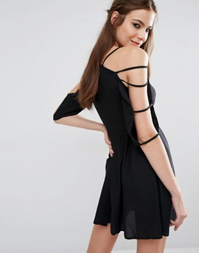 photo Cage Sleeve Dress by Love, color Black - Image 2