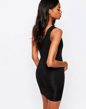 photo Bodycon Dress with Gold Plate Detail by AX Paris, color Black - Image 2