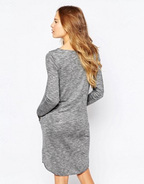 photo Long Sleeve Jumper Dress by Ichi, color Grey - Image 2