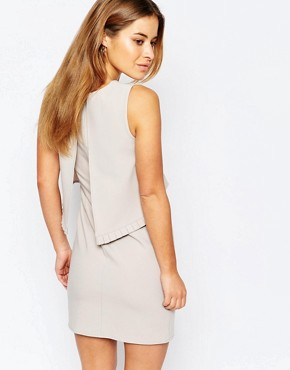 photo Dress with Frill Trim Detail At Back by Alter Petite, color Soft Grey - Image 2