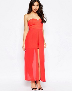 photo Nico Dress with Maxi Overlay by Jovonna, color Red - Image 1
