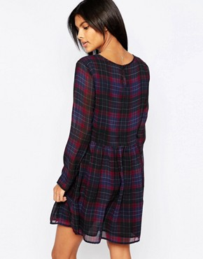 photo Bloom Plaid Babydoll Dress by Pepe Jeans, color  - Image 2