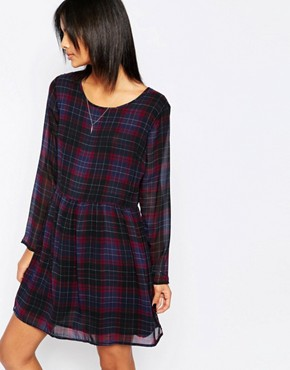photo Bloom Plaid Babydoll Dress by Pepe Jeans, color  - Image 1
