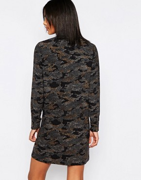 photo Ilford Camo Print Shirt Dress by Pepe Jeans, color  - Image 2