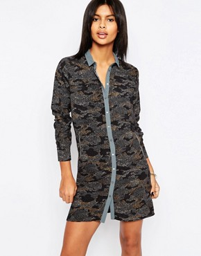 photo Ilford Camo Print Shirt Dress by Pepe Jeans, color  - Image 1