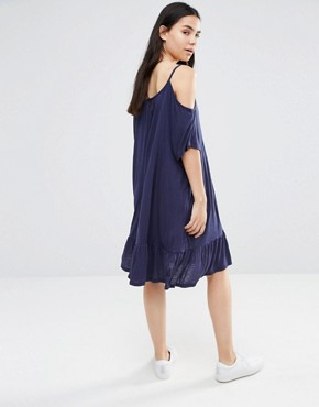 photo Tiered Cami Dress by Vero Moda, color Black Iris - Image 2