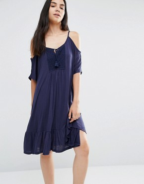 photo Tiered Cami Dress by Vero Moda, color Black Iris - Image 1