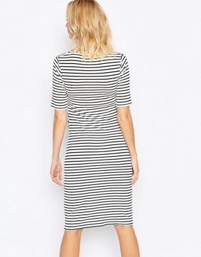 photo Striped Midi Dress by Bluebelle Maternity, color  - Image 2