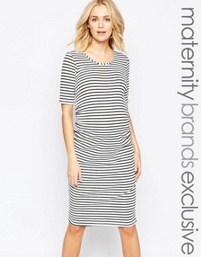 photo Striped Midi Dress by Bluebelle Maternity, color  - Image 1