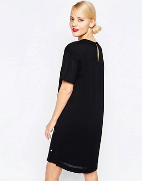 photo Embellished Shift Dress by Love Moschino, color Black - Image 2