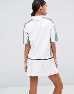 photo Court Sweat Dress with Drop Waist by Nike, color White/Carbon Heather - Image 2