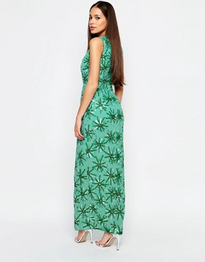 photo Danise Maxi Dress by Virgos Lounge, color Green - Image 2