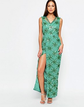 photo Danise Maxi Dress by Virgos Lounge, color Green - Image 1