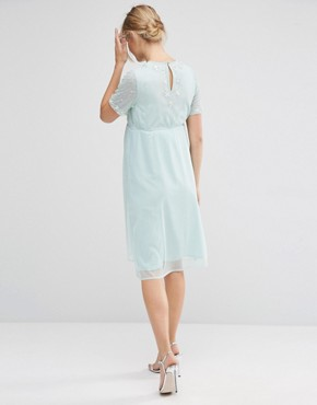 photo Pearl Embellished Midi Dress by ASOS Maternity, color Mint - Image 2