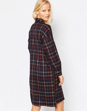 photo Twill Check Shirt Dress by Native Youth, color  - Image 2