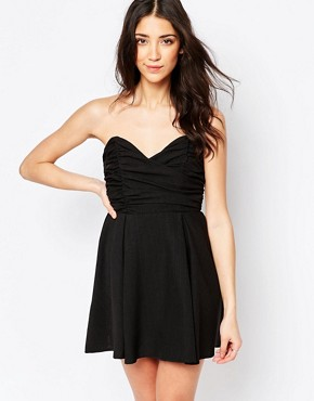 photo Babydoll Dress by Glamorous, color Black - Image 1