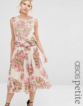 photo Pretty Soft Midi with Embellished Bodice by ASOS PETITE SALON, color  - Image 1