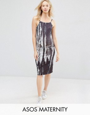 photo Midi Cami Dress In Abstract Print by ASOS Maternity, color  - Image 1