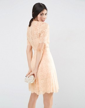 photo Lace Mini Prom Dress by ASOS TALL, color Nude - Image 2