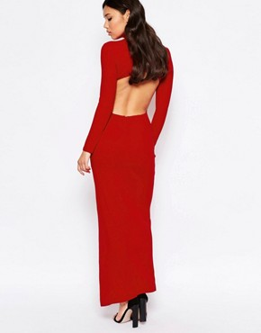 photo High Neck Maxi Dress by Twin Sister, color Red - Image 2