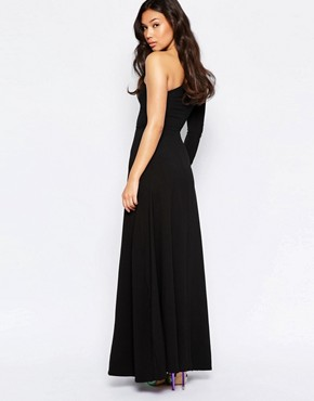 photo One Shoulder Maxi Dress by Twin Sister, color Black - Image 2