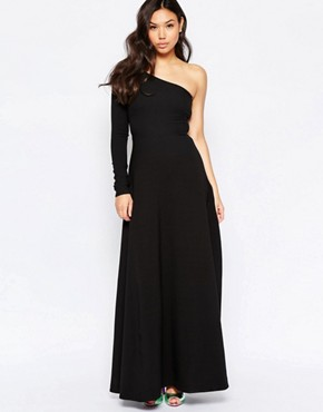 photo One Shoulder Maxi Dress by Twin Sister, color Black - Image 1