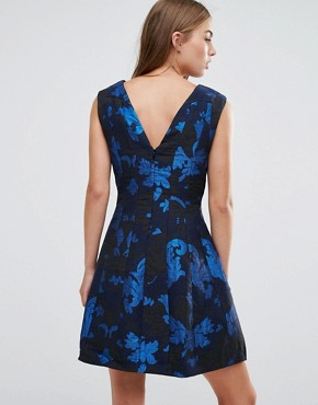 photo Skater Dress In Jacquard by See U Soon, color Blue - Image 2