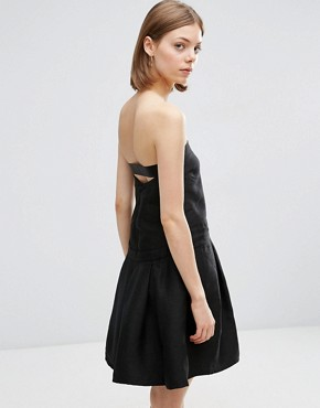 photo Skater Dress with Cut Out Front by See U Soon, color Black - Image 2