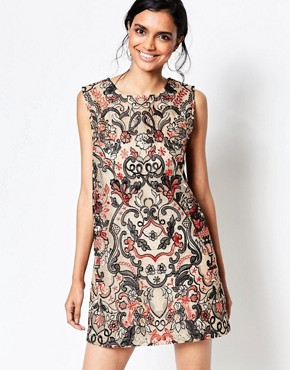 photo City Hall Lace Shift Dress in Camel by Ganni, color Camel - Image 1