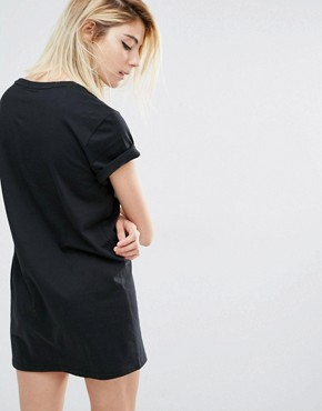 photo T-Shirt Dress with Trefoil Logo by Adidas Originals, color Black - Image 2
