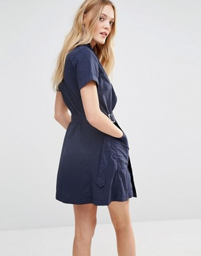 photo Utility Wrap Dress by G-Star, color Blue - Image 2