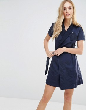 photo Utility Wrap Dress by G-Star, color Blue - Image 1
