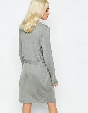 photo Jersey Dress with Tie Side by Neon Rose, color Grey Marl - Image 2