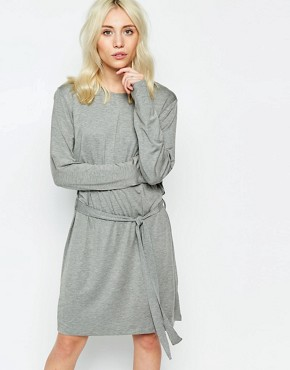 photo Jersey Dress with Tie Side by Neon Rose, color Grey Marl - Image 1