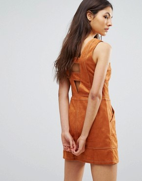 photo Jordan Faux Suede Dress by Greylin, color Honey - Image 2