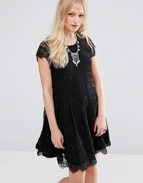 photo Lace Mini Dress by Hazel, color Black - Image 1