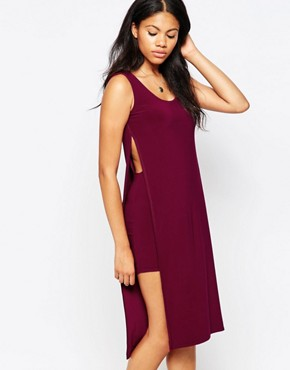 photo Tabard Dress by Love, color Wine - Image 1