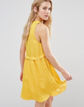 photo Alhena Smock Dress with Pockets by d.RA, color Mustard - Image 2