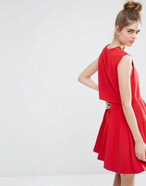 photo Pleat Dress by Sportmax Code, color Red - Image 2