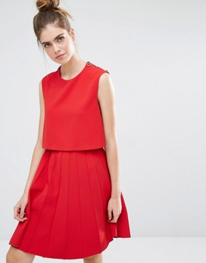 photo Pleat Dress by Sportmax Code, color Red - Image 1