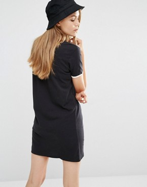 photo T-Shirt Dress with Peeking Pocket by Vans, color Black - Image 2