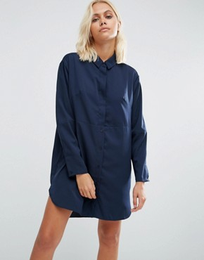 photo Sammy Shirt Dress In Nocturnal by French Connection, color Nocturnal - Image 1
