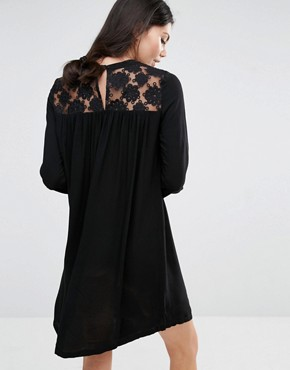 photo Dress with Lace Insert by Brave Soul Tall, color Black - Image 2