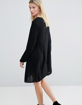 photo Dress with Embroidered Neckline by Brave Soul Tall, color Black - Image 2