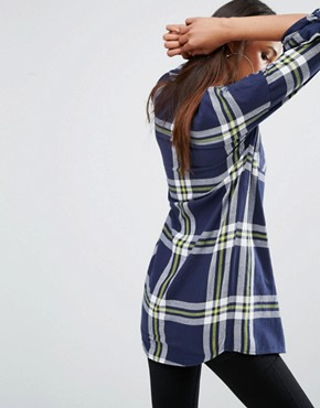 photo Oversized Check Shirt Dress by Noisy May Tall, color  - Image 2
