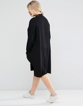 photo Shirt Dress with Drape Pockets by ASOS CURVE, color Black - Image 4