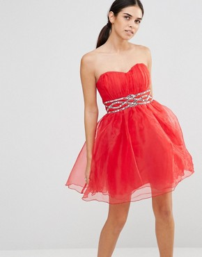 photo Prom Dress by Laced In Love, color Red - Image 1