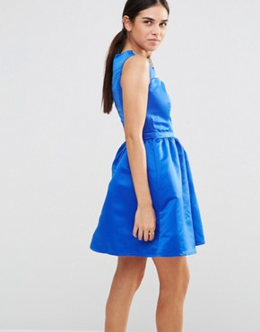photo Embellished Cut Out Dress by Laced In Love, color Blue - Image 2