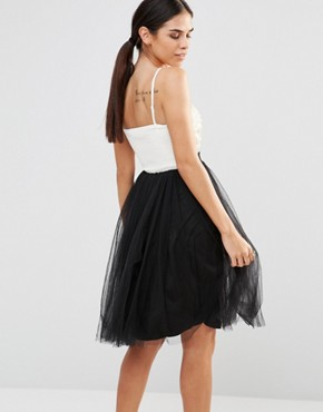photo Prom Dress by Laced In Love, color Black/Cream - Image 2